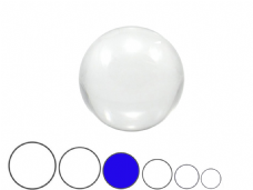 Jac Products Clear 80mm Acrylic Contact Ball